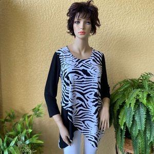 Rafaella zebra print tunic top